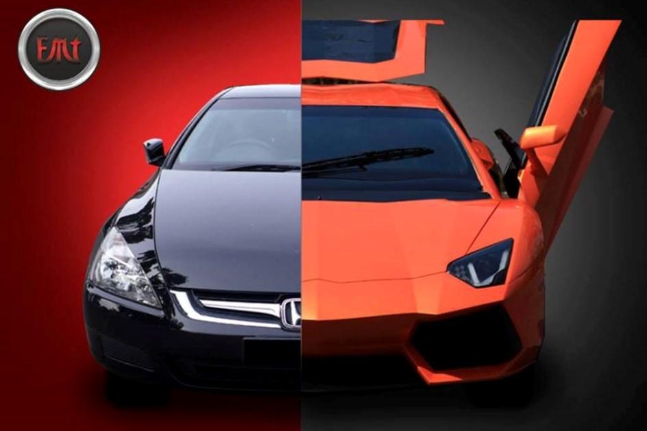 Este Lamborghini Aventador já foi um Honda Accord