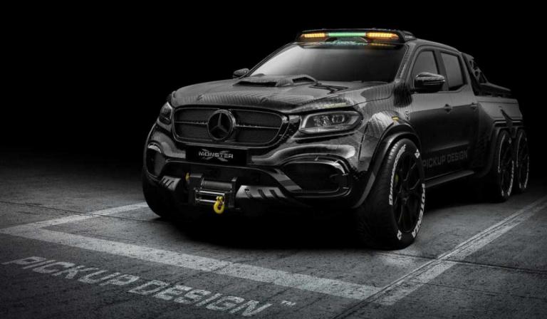 """EXY Monster X, o """"monstro"""" de 6 rodas inspirado num Mercedes"""