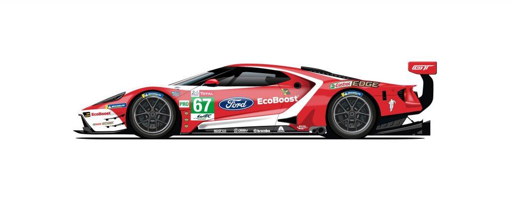 Ford comemora vitórias em Le Mans com decorações especiais nos GT