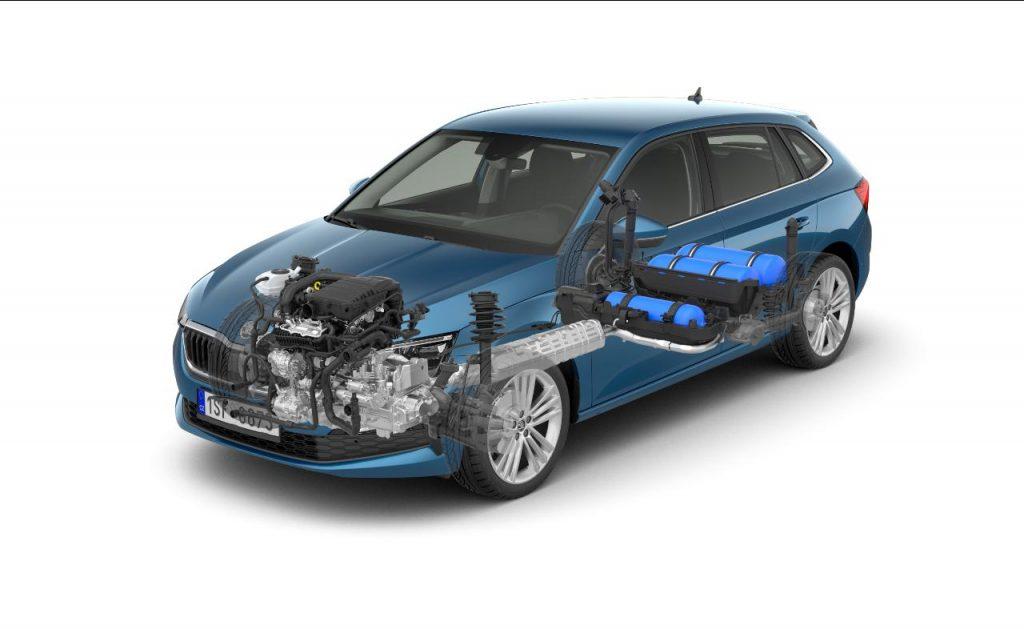 O Skoda Scala G-TEC aponta à redução das emissões