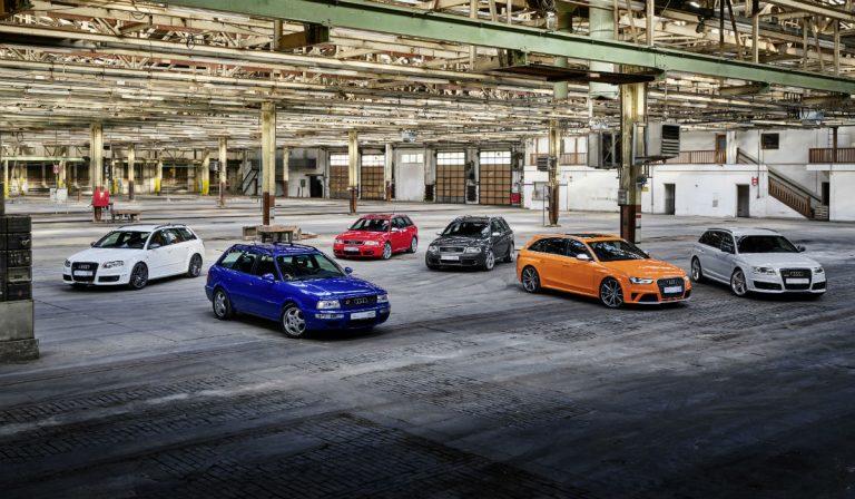 Audi Sport celebra 25 anos da linhagem de modelos RS
