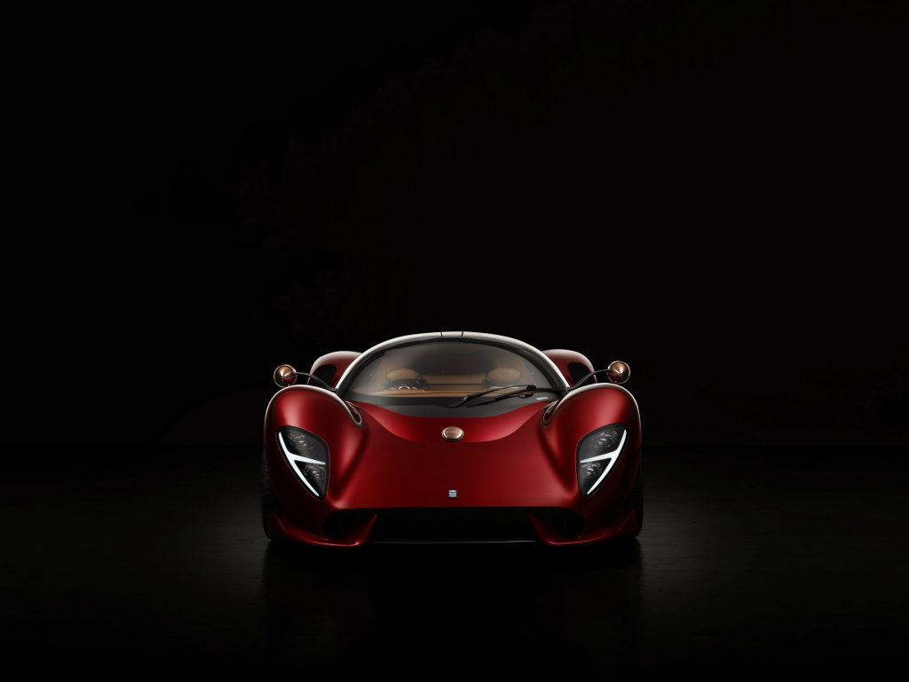 O De Tomaso P72 marca o regresso do mítico fabricante italiano