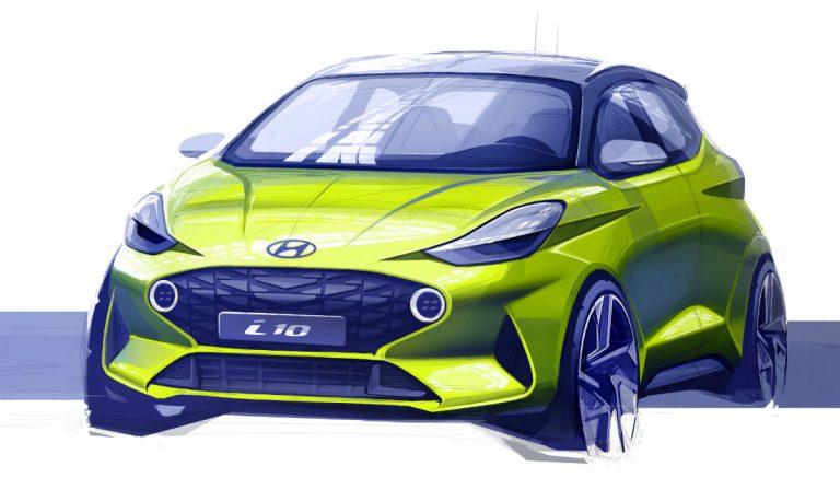 Hyundai revela esboço do novo i10 antes da sua apresentação