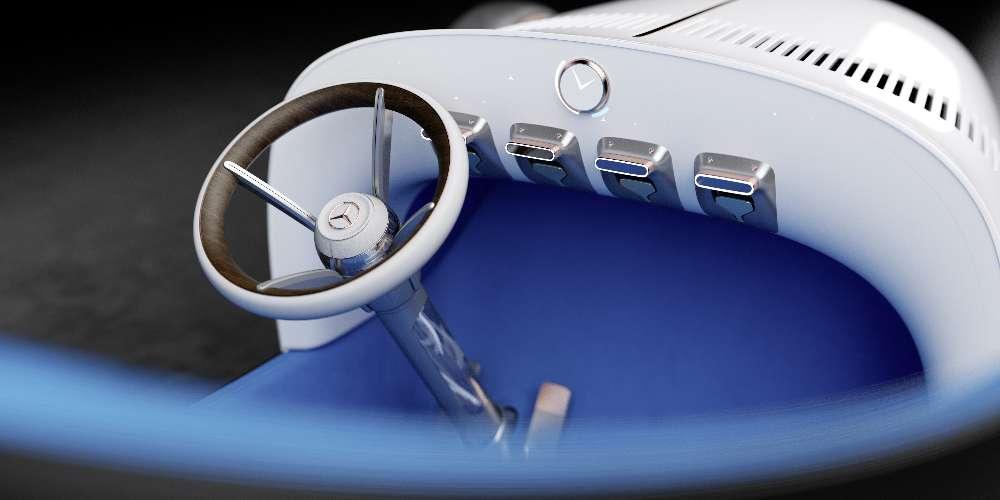 Mercedes mostra como seria juntar o passado com o futuro