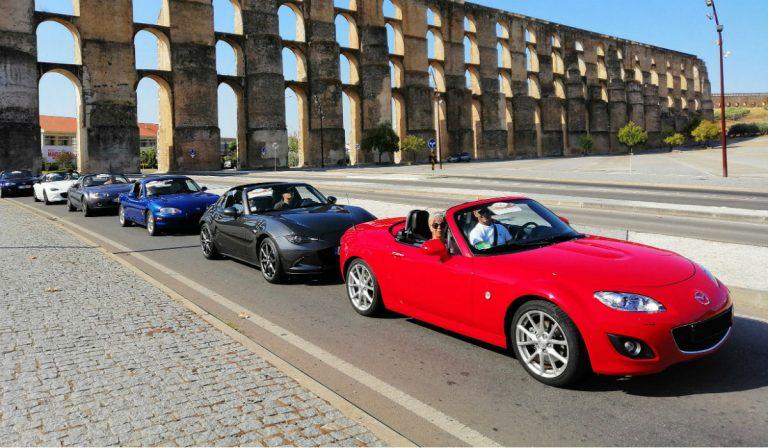 Club MX-5 Portugal leva 40 automóveis ao interior alentejano