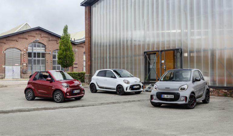 Smart atualiza os EQ Fortwo e Forfour e torna-se numa marca 100% elétrica