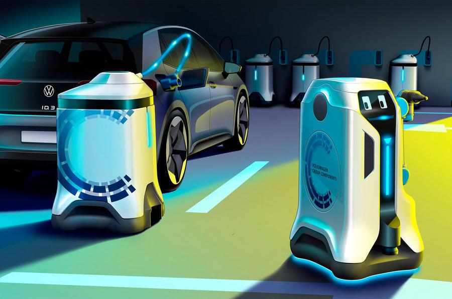 Volkswagen está a desenvolver um robot móvel para carregar carros elétricos
