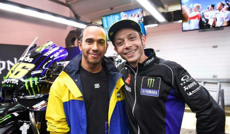 Corrida entre Valentino Rossi e Lewis Hamilton já tem data