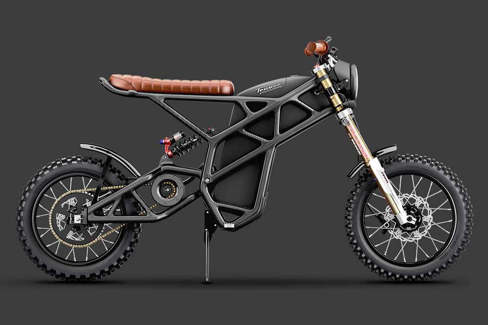 Esta moto elétrica tem o quadro em fibra de carbono e chega aos 100 km/h