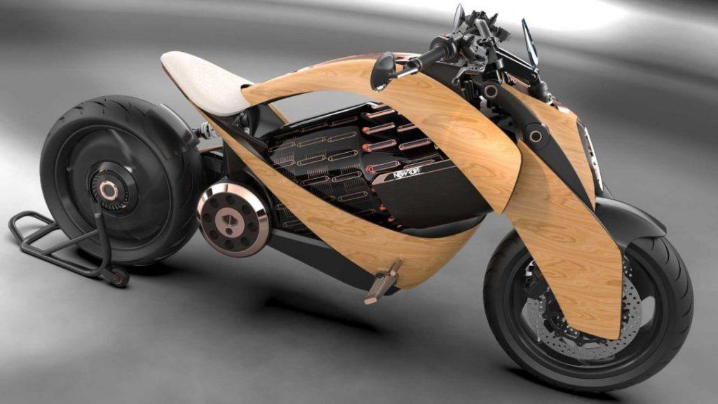 Já abriram as reservas da Newron EV-1, a moto elétrica com exterior em madeira