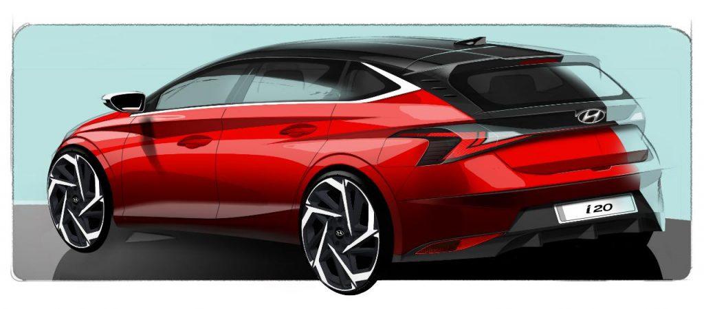 Hyundai mostra o design da nova geração do i20