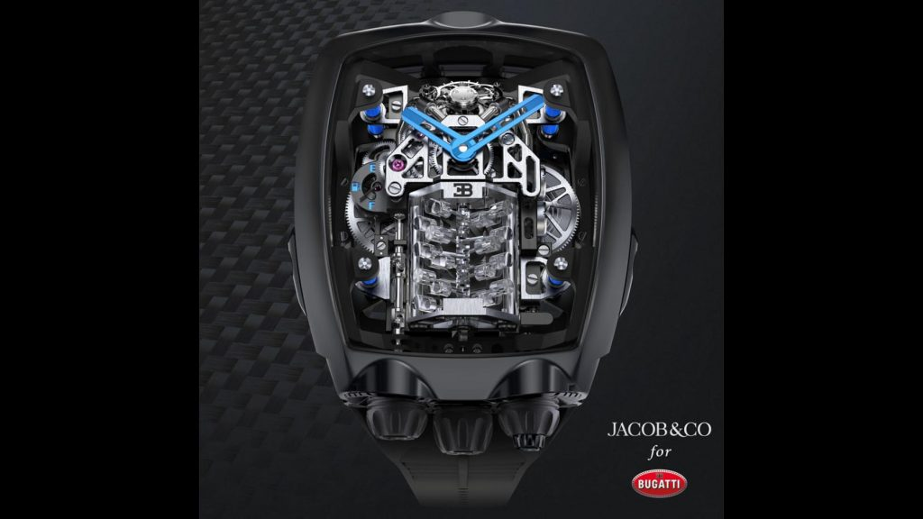 Relógio inspirado no Bugatti Chiron custa mais de 250 mil euros